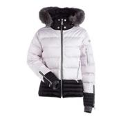 NILS Liv Fur Womens Insulated Ski Jacket, Shadow-Pewter, medium