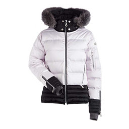 NILS Liv Fur Womens Insulated Ski Jacket, Shadow-Pewter, 256