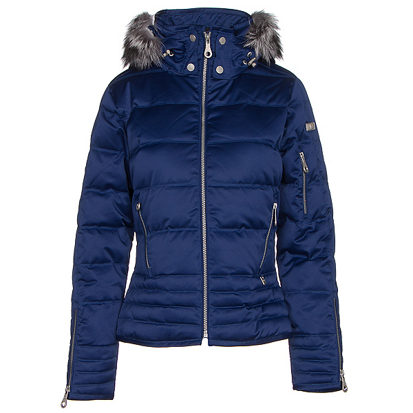 NILS Olivia Fur Womens Insulated Ski Jacket, Indigo, 600