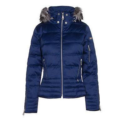NILS Olivia Fur Womens Insulated Ski Jacket, Indigo, viewer