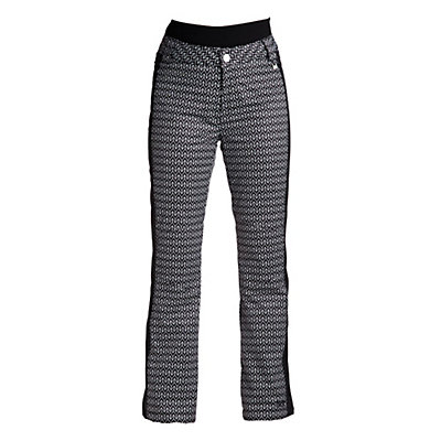 NILS Dominique Stripe Womens Ski Pants, Velocity Print-Black, viewer
