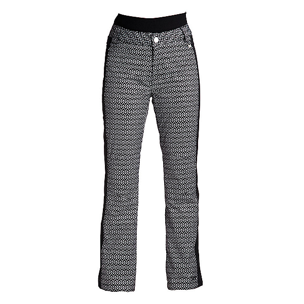 NILS Dominique Stripe Womens Ski Pants, Velocity Print-Black, 600