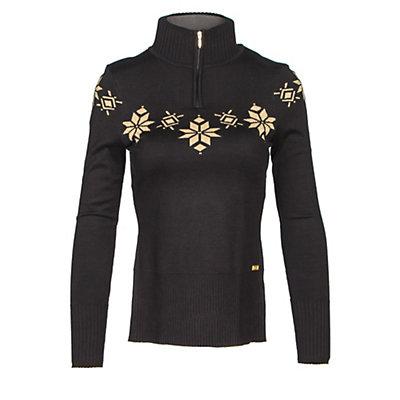 NILS Kora Womens Sweater, Black-Metallic Gold, viewer