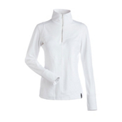 NILS Fallon Womens Long Underwear Top, White, medium