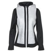 Nils Julie Womens Jacket, White-Black, medium
