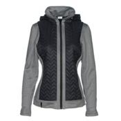 Nils Julie Womens Jacket, Black-Charcoal, medium