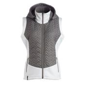 Nils Lottie Womens Vest, Pewter-White, medium