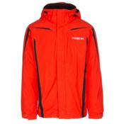 Karbon Saturn Mens Insulated Ski Jacket, Flame-Flame-Black, medium