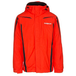 Karbon Saturn Mens Insulated Ski Jacket, Flame-Flame-Black, 256