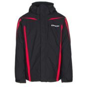 Karbon Saturn Mens Insulated Ski Jacket, Black-Black-Red, medium