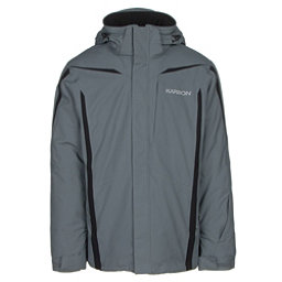 Karbon Saturn Mens Insulated Ski Jacket, Smoke-Smoke-Black, 256
