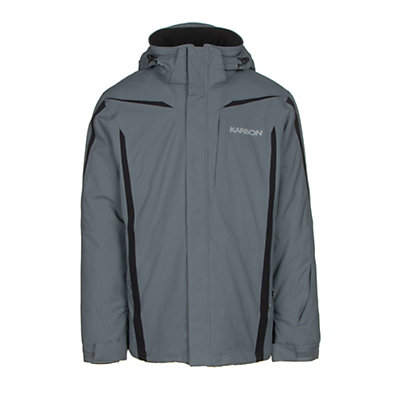 Karbon Saturn Mens Insulated Ski Jacket, Smoke-Smoke-Black, viewer