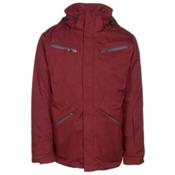 Karbon Silica Mens Insulated Ski Jacket, Burgundy-Charcoal-Black, medium