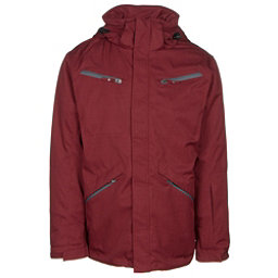 Karbon Silica Mens Insulated Ski Jacket, Burgundy-Charcoal-Black, 256