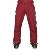 Karbon Rock Mens Ski Pants, Burgundy-Charcoal, medium