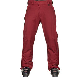 Karbon Rock Mens Ski Pants, Burgundy-Charcoal, 256