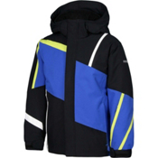 Karbon Jester Boys Ski Jacket, Black-Patriot-Lime-Arctic Whit, medium