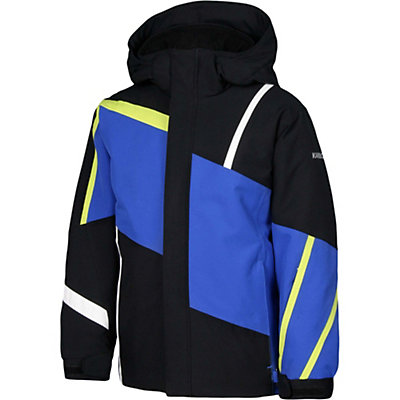 Karbon Jester Boys Ski Jacket, Black-Patriot-Lime-Arctic Whit, viewer