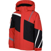 Karbon Jester Boys Ski Jacket, Red-Black-Arctic White-Smoke, medium