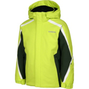 Karbon Merlin Boys Ski Jacket, Lime-Jungle-Arctic White, medium