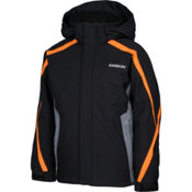 Karbon Merlin Boys Ski Jacket, Black-Smoke-Pylon, medium