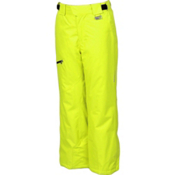 Karbon Stinger Kids Ski Pants, Lime-Black, medium