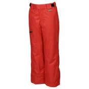 Karbon Stinger Kids Ski Pants, Red-Black, medium