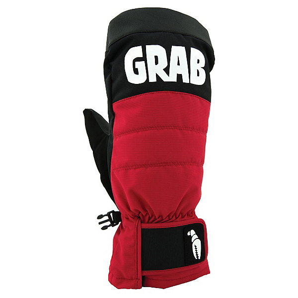 Crab Grab Punch Mittens, Red-Black, 600