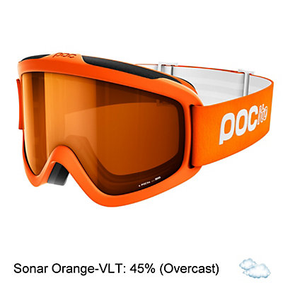 POC POCito Iris Kids Goggles 2018, Zink Orange-Sonar Orange, viewer