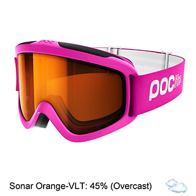 POC POCito Iris Kids Goggles 2017, Zink Orange-Sonar Orange, viewer