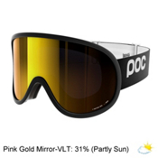 POC Retina Big Goggles 2018, Uranium Black-Pink Gold Mirror, medium