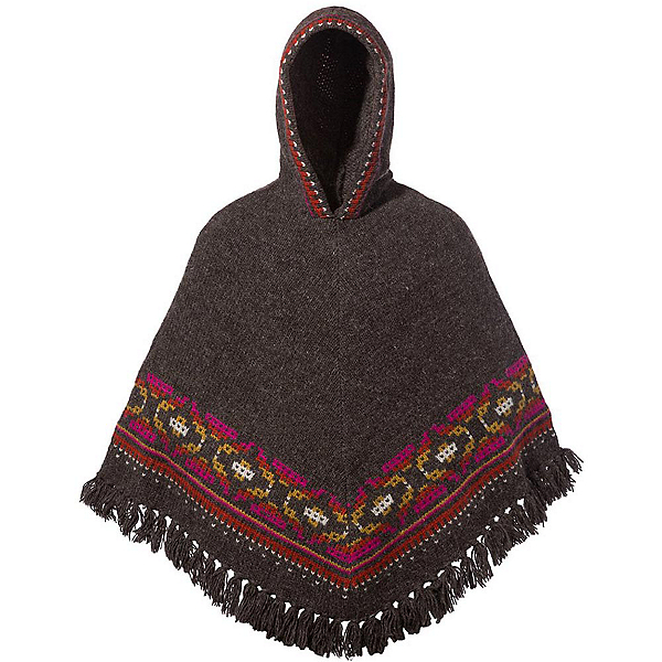 Sherpa Samchi Poncho Womens Sweater, Maato Brown, 600