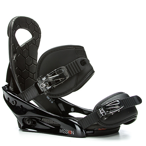 Burton Mission Smalls Kids Snowboard Bindings 2017, Black, 600