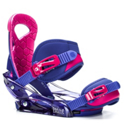 Burton Scribe Smalls Girls Snowboard Bindings 2017, Deja Blue, medium