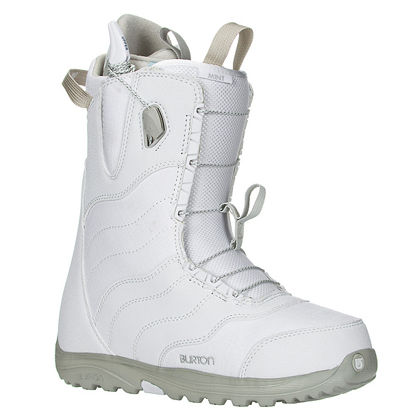 Burton Mint Womens Snowboard Boots, White-Gray, 600