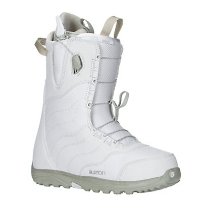 Burton Mint Womens Snowboard Boots 2017, White-Gray, viewer