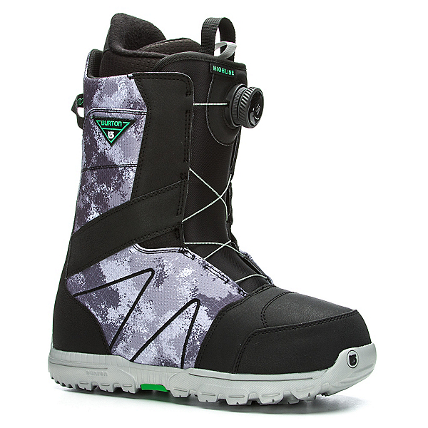 Burton Highline Boa Snowboard Boots 2017, Black-Gray, 600