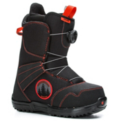 Burton Zipline Boa Kids Snowboard Boots, Black-Red, medium