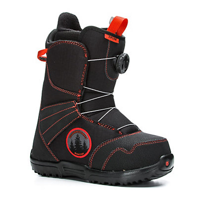 Burton Zipline Boa Kids Snowboard Boots 2017, Black-Red, viewer