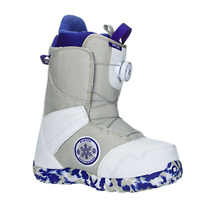 Burton Zipline Boa Girls Snowboard Boots, White-Gray, viewer