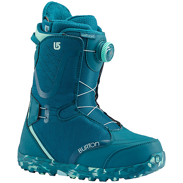Burton Limelight Boa Womens Snowboard Boots, The Teal Deal, 600