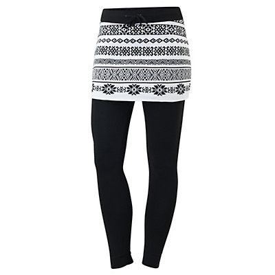 Newland Carlotta Skirted Womens Long Underwear Pants, Black-White, viewer