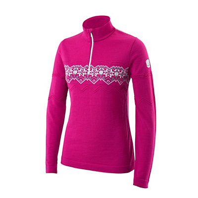 Newland Ester Half Zip Womens Long Underwear Top, Pink, viewer