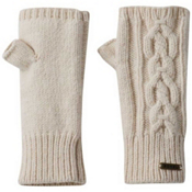 Sorel Addington Lux Fingerless Womens Gloves, Bisque, medium