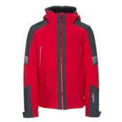 Rh+ Zero Mens Insulated Ski Jacket, Red-Grey, medium