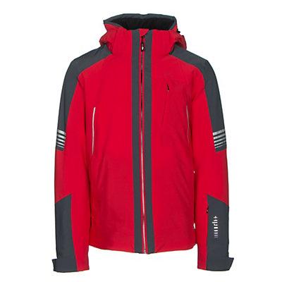 Rh+ Zero Mens Insulated Ski Jacket, Red-Grey, viewer