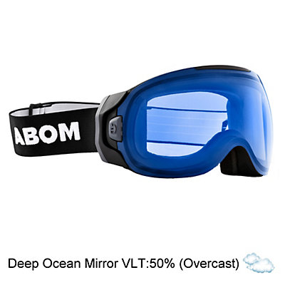 Abom One Goggles 2018, Deep Ocean Blue Mirror, viewer