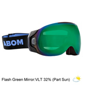 Abom One Goggles 2018, Flash Green Mirror, medium