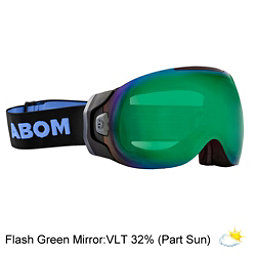 Abom Goggles 2017, Flash Green Mirror, 256