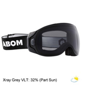 Abom Goggles 2017, Stealth Xray Grey, medium